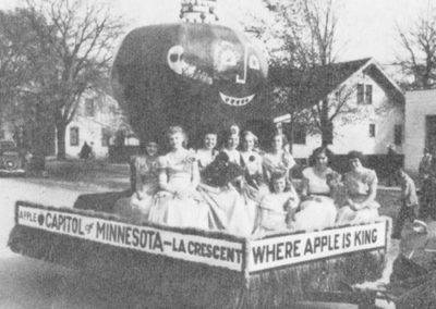 1949 Apple Festival Queen and Court On Float
